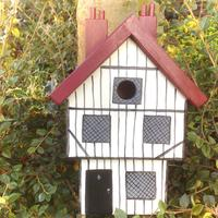 Handmade Tudor House Bird Box