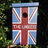 Handmade Union Jack Bird Box by Lindleywood