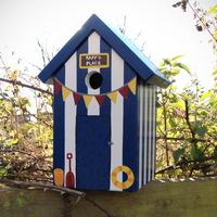 Handmade Beach Hut Bird Box by Lindleywood