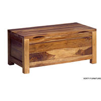 Cube Sheesham Blanket Box from Verty furniture