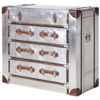 Space Industrial 3 Drawer Metal Trunk Chest