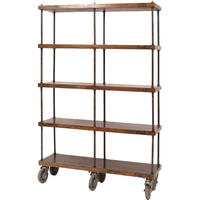 Shoreditch Industrial Bookcase On Wheels