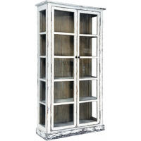 Painted Reclaimed Timber Double Door Vitrine