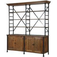 Blaine Industrial Pine Shelving Unit