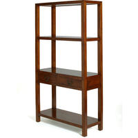 Ming Bookshelf - dark elm