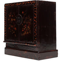Black Lacquer Painted Book Cabinet