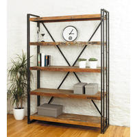 Industrial Chic Reclaimed Wood Large Bookcase