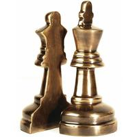 Kinsley Brass Finish Chess Piece Bookends