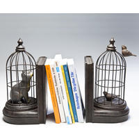 Set of 2 Cave Cats Bookend