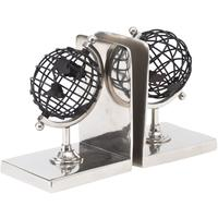 Bowes Black and Silver Globe Bookends