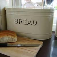 Oval Cream Bread Bin