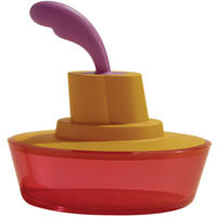 Alessi Ship Shape Butter Dish in Orange