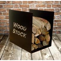 Wood Stock Metal Log Rack - Black