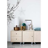 Storage unit with drawers, Natural