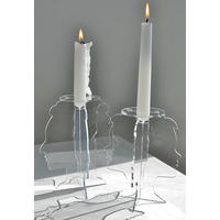 Pair of Profile Candlestick Holders.  Strike a pose!
