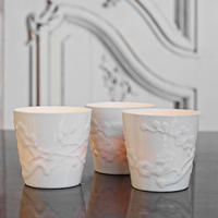 Porcelain Blossom Tea Light Holders