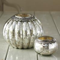 Silver Pumpkin Tea-light Holder