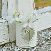 Heart Tealight Holder in Cream