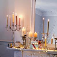 John Lewis Chrome Effect 5 Arm Candelabra