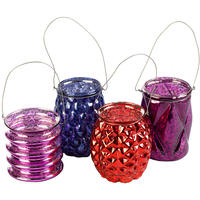 Pols Potten - Hanging Votive - Assorted Red/Purple - Set of 4