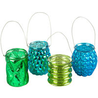 Pols Potten - Hanging Votive - Assorted Blue/Green - Set of 4