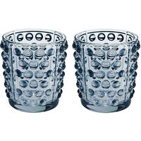 Lalique - Mossi Votive - Set of 2 - Blue Lustre