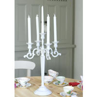 Distressed White Candelabra
