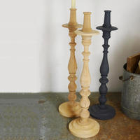 60cm tall wooden candle holder (2 colours)