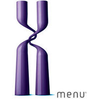 Menu Double Candle Holder (Purple)