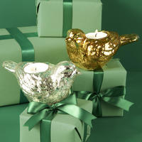 Mercury Glass Bird Tealight Holder