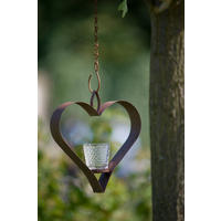 Shaker Hanging Heart T-light Holder with Votive