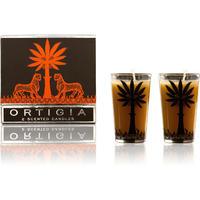 Ortigia - Set of 2 Ambra Nera Scented Cone Candles