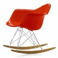 Eames Style RAR Chair, Red (reproduction)