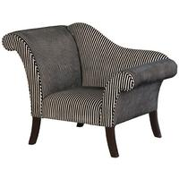 Swish Black and White Striped Armchair