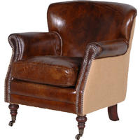 Gatsby Brown Leather Armchair