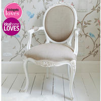 Provencal Linen Lady's Chair