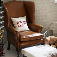 'You Choose the Leather ' Hand Dyed Leather Knightsbridge Wing Chair