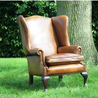 'You Choose the Leather or Cowhide' Knightsbridge Wing Chair