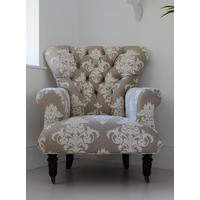 Flocked Upholstered Armchair