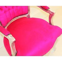 Pink And Silver Louis Armchair