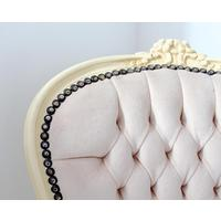 Cream Velvet Louis Chair With Cream Frame