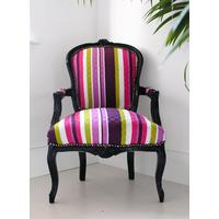 Stripy Louis Armchair