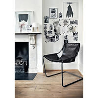 Paulistano chair - Black leather cover