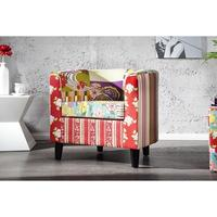 PRINTEMPS - design patchwork armchair floral lounge chair