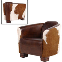 Gaucho Brown & White Cow Hide Armchair