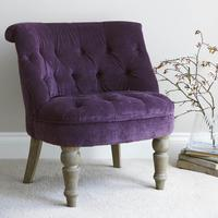 Velvet Boudoir Chair (Purple or Lime Green)