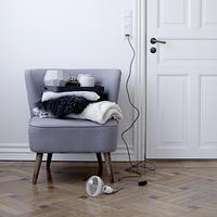 Upholstered Armchair in Grey or Rose