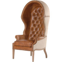 Leather and Linen Porter's Chair
