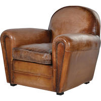 Art Deco Vintage Leather Sofa Armchair