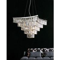Boutique Square Crystal Pendant Chandelier